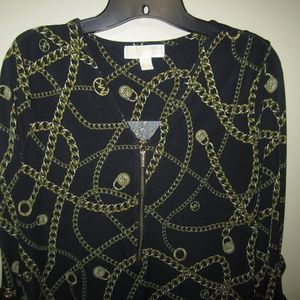 Michael Kors Zip Front Gold Chain Lock Tunic